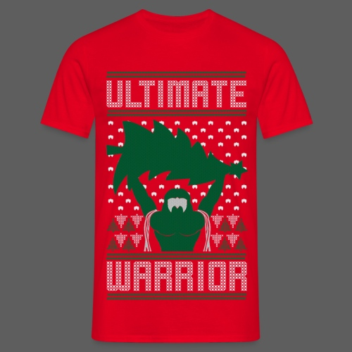 Ultimate Warrior Ugly Christmas Red Shirt - Men's T-Shirt