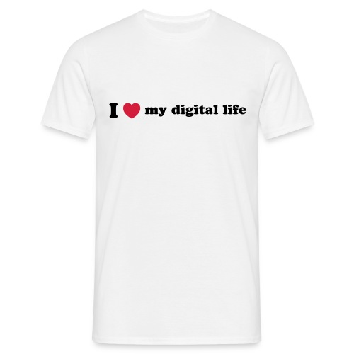 I Love my digital life - Men's T-Shirt