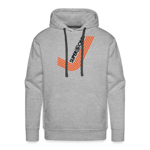 Supersonik Hoodie V Logo Front - Men's Premium Hoodie