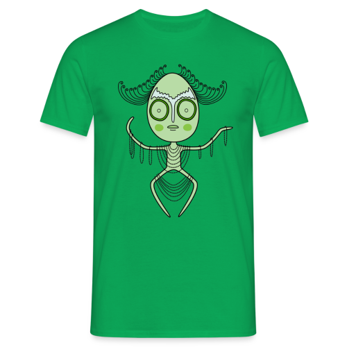 Alien turkos - T-shirt herr