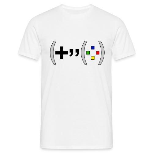T-shirt Homme Premium Manches courtes | Manette de jeu de gamer version texte - T-shirt Homme