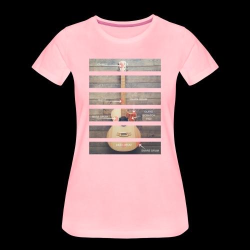 Ladies Guitar Anatomy - Women's Premium T-Shirt