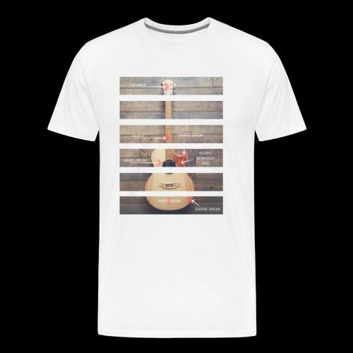 Teens Guitar Anatomy - Men's Premium T-Shirt