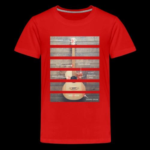 Men's Guitar Anatomy - Teenage Premium T-Shirt