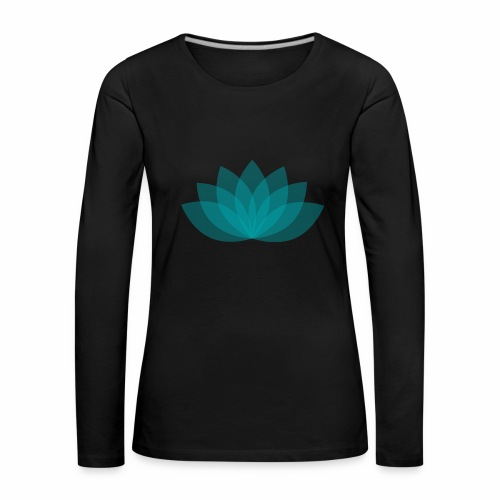 Women's Premium Long Sleeve Shirt - Black shirt, digital direct print - Frauen Premium Langarmshirt