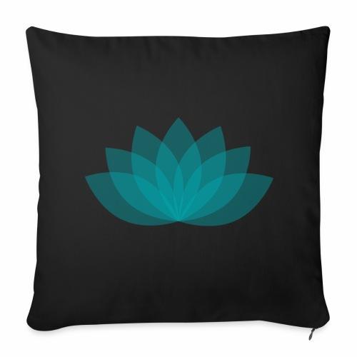 Sofa cushion cover 44x44 cm - Lotus - Black - Sofakissenbezug 44 x 44 cm