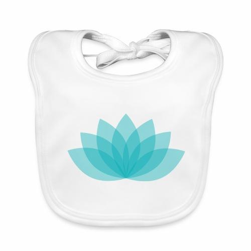 Baby Bio bib - Lotus - White bib, digital direct print - Baby Bio-Lätzchen