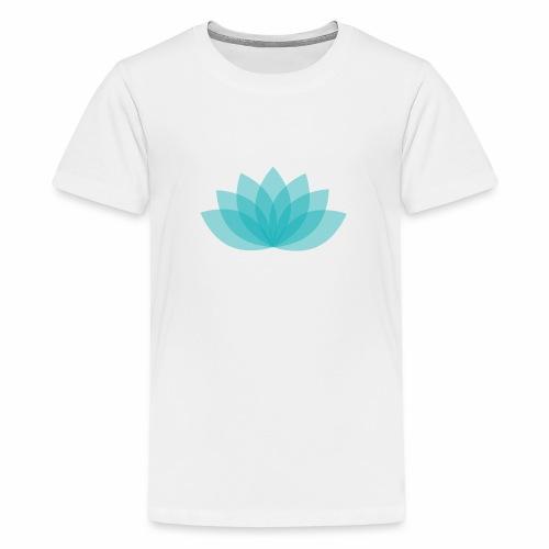 Teenager premium shirt - Lotus - White shirt, digital direct print - Teenager Premium T-Shirt