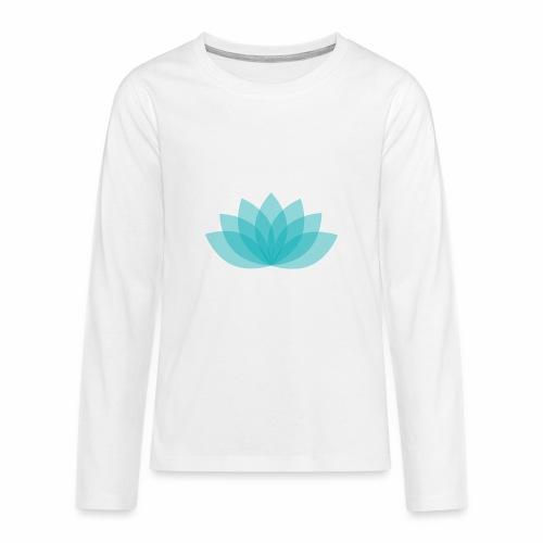 Teenager premium longsleeve shirt - Lotus - White shirt, digital direct print  - Teenager Premium Langarmshirt