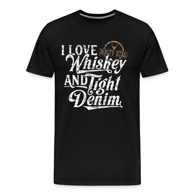 Whiskey & Tight Denim Tee