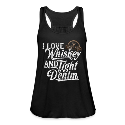 Whiskey & Tight Denim Womens Racer - Women's Tank Top by Bella
