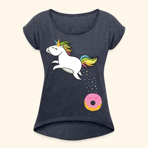 Battle of the donut - T-shirt à manches retroussées Femme
