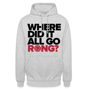 Where Did It All Go Rong? (Grey Unisex Hoodie) - Unisex Hoodie