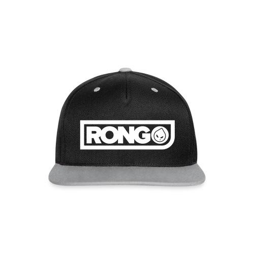 Rong Black & Grey Snapback Hat - Contrast Snapback Cap