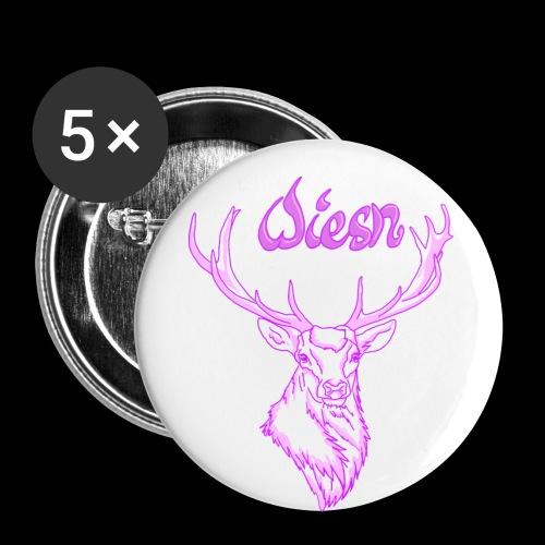 Wiesnhirsch - Buttons groß 56 mm (5er Pack)