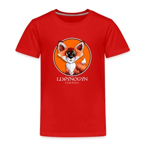 llwynogyn - a little red fox (white) - Lasten premium t-paita