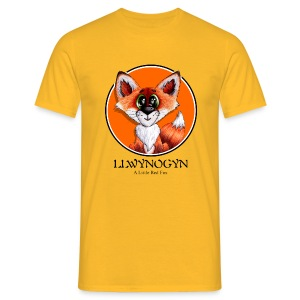 llwynogyn - a little red fox (black) - T-skjorte for menn