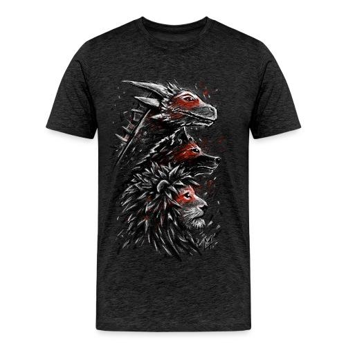 Dragon Wolf Lion - Men's Premium T-Shirt
