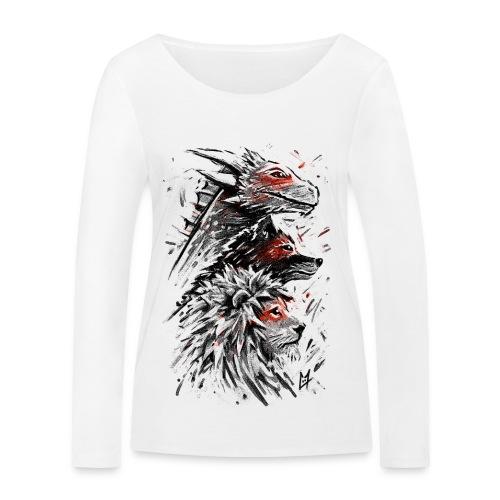Dragon Wolf Lion - Women's Organic Longsleeve Shirt by Stanley & Stella