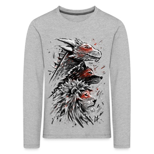 Dragon Wolf Lion - Kids' Premium Longsleeve Shirt
