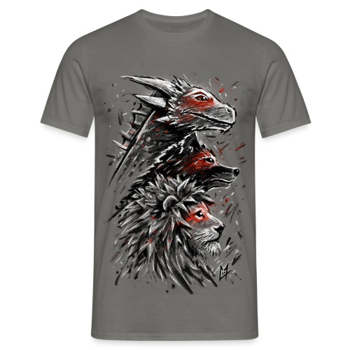 Dragon Wolf Lion - Men's T-Shirt