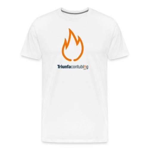 Camiseta hombre Triunfacontublog.com Blanca - Camiseta premium hombre