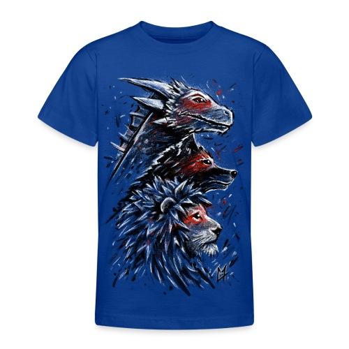 Dragon Wolf Lion - Teenage T-Shirt