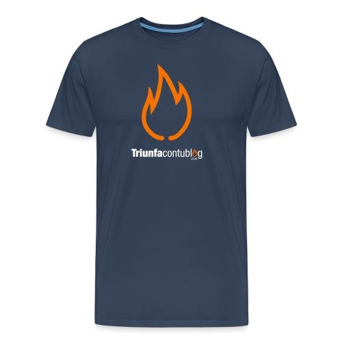 Camiseta hombre Triunfacontublog.com Azul - Camiseta premium hombre