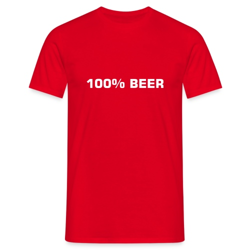 100% Beer - Men's T-Shirt