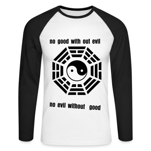yin and yang - Men's Long Sleeve Baseball T-Shirt