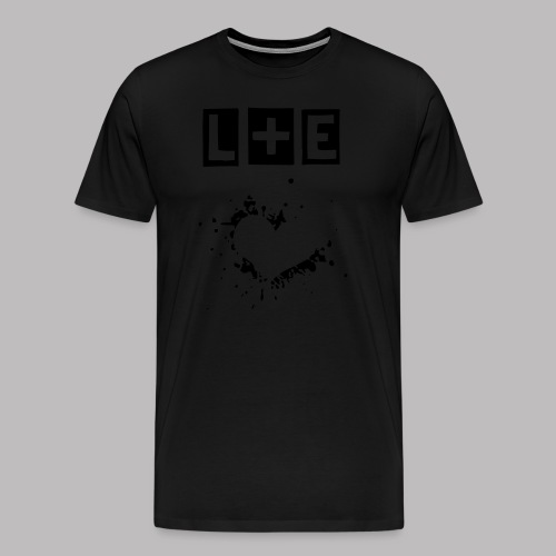 Lifelines + Echoes Black T-shirt - Premium T-skjorte for menn