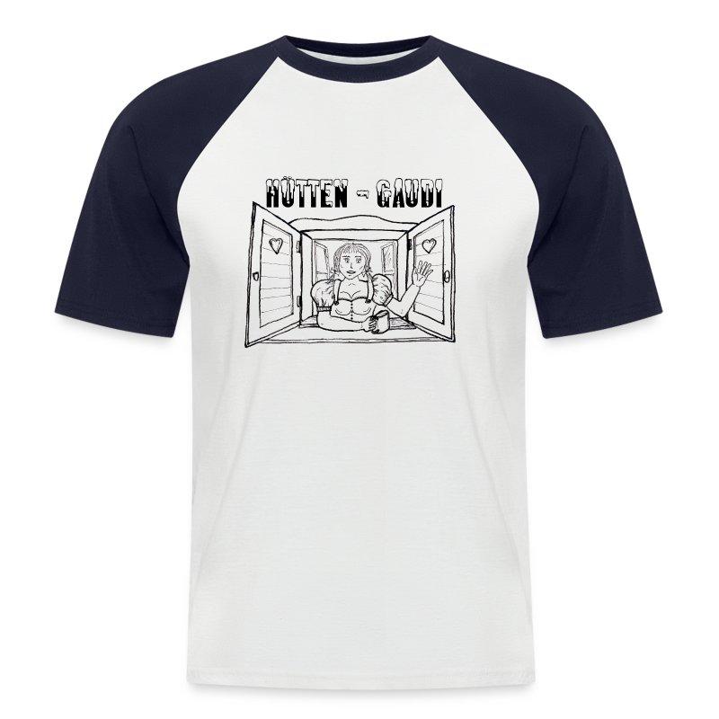 Hütten-Gaudi Ärmel - Männer Baseball-T-Shirt