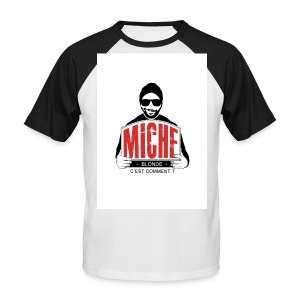 T-shirt Baseball Miche - T-shirt baseball manches courtes Homme
