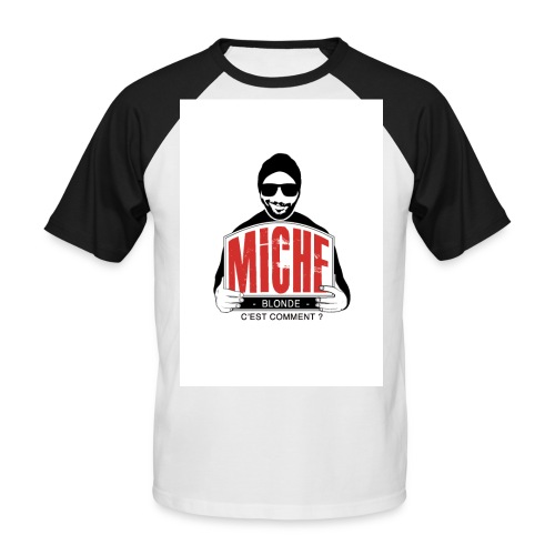 T-shirt Baseball Miche - T-shirt baseball manches courtes Homme