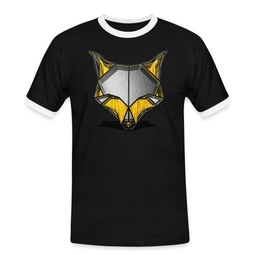 Shirt Wolf - Männer Kontrast-T-Shirt