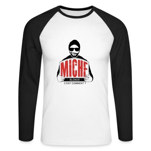 T-shirt Baseball manches longues Miche  - T-shirt baseball manches longues Homme