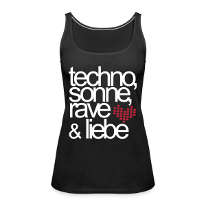 Techno,Sonne,Rave & Liebe - Top (Damen) - Women's Premium Tank Top