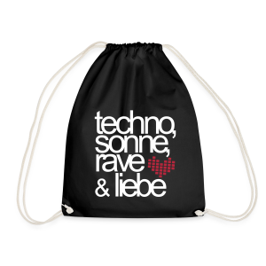 Techno,Sonne,Rave & Liebe - Turnbeutel (Damen) - Drawstring Bag