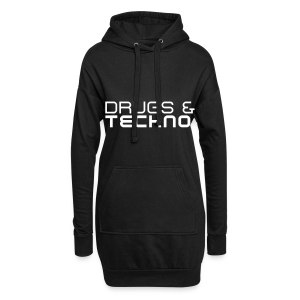 Drugs & Techno - Long Hoodie (Damen) - Hoodie Dress