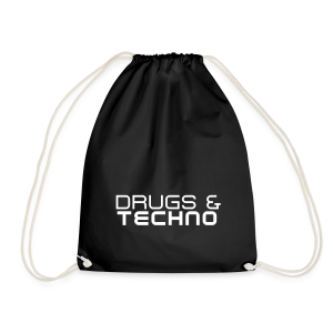 Drugs & Techno - Turnbeutel (Unisex) - Drawstring Bag