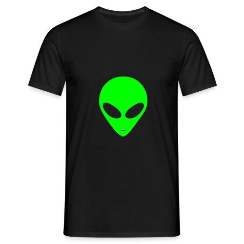 Tee-shirt alien (noir)/(vert) - T-shirt Homme