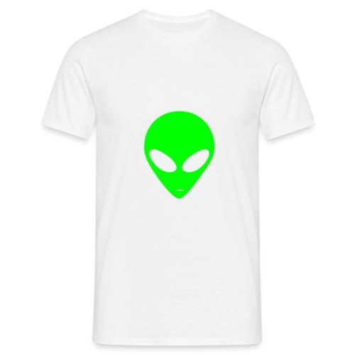 Tee-shirt alien (blanc)/(vert) - T-shirt Homme