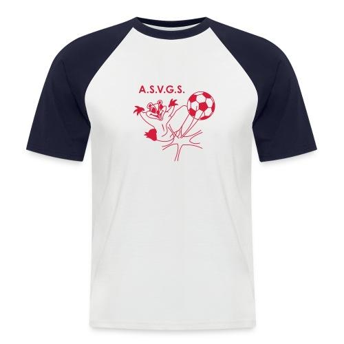 T-Shirt bi color - blanc - T-shirt baseball manches courtes Homme