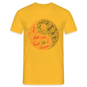 DSI Yellow Yin Yang  - Men's T-Shirt