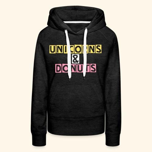 Donuts warm ladies up - Sweat-shirt à capuche Premium pour femmes