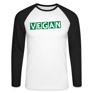 VEGAN - Men's Long Sleeve Baseball T-Shirt