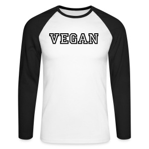 VEGAN 2 - Men's Long Sleeve Baseball T-Shirt