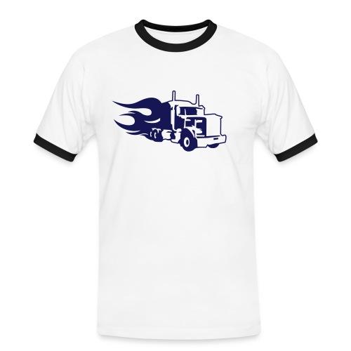 Fire truck - Kontrast-T-shirt herr