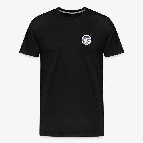 #YG 'BlueCamo' logo Tee - Men's Premium T-Shirt