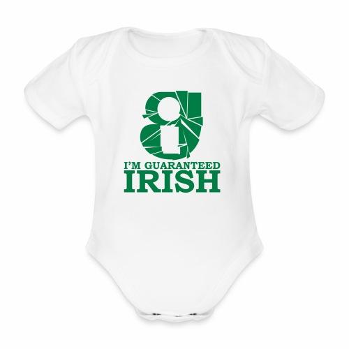 I'm Guaranteed Irish (BABY) - Organic Short-sleeved Baby Bodysuit